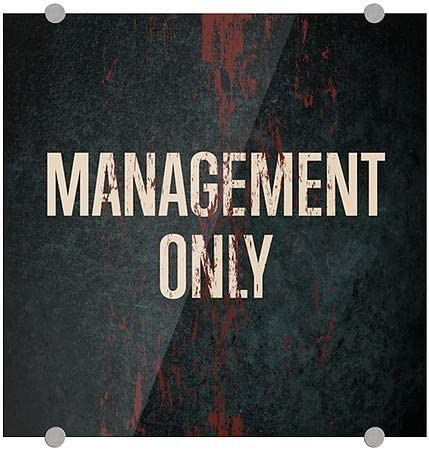 Management Only 16x16 5-Pack Ghost Aged Rust Premium Brushed Aluminum Sign CGSignLab