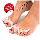 JAQActive Gel Toe Separators for Bunion and Hammer Toe Relief