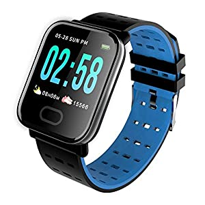 Reepud Wireless Waterproof Bluetooth A6 Fitness Band SmartWatch/Activity Tracker/Smart Band for Men, Women, Boys, Girls…