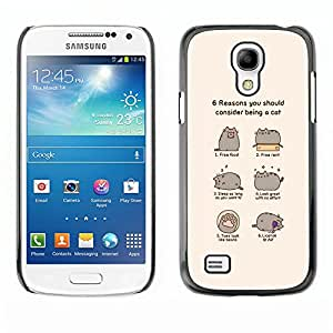 LECELL--Funda protectora / Cubierta / Piel For Samsung Galaxy S4 Mini i9190 -- CAT DIVERTIDO HUMOR CÓMICO --