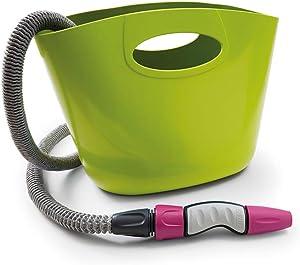 GF Garden Aquapop Mini Extendable Hose Kit - Max. 58 psi, 50 ft. Self-Extendable Hose - Lime