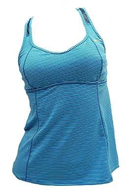 Nike Racerback Tankini Blue Striped