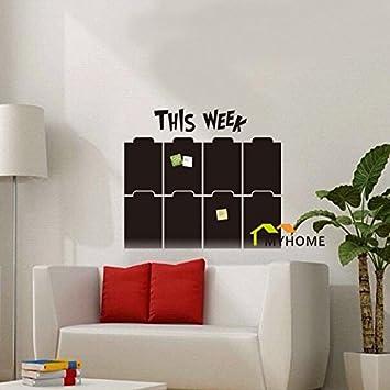 Nuevo - 50 * 57 cm agenda pizarra pegatinas de pared ...