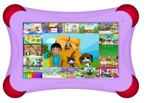 """Visual Land Prestige PRO 7D FamTab - 7"""" Dual Core 8GB Family Tablet with Google Play and Safety Bumper (Lilac)"""