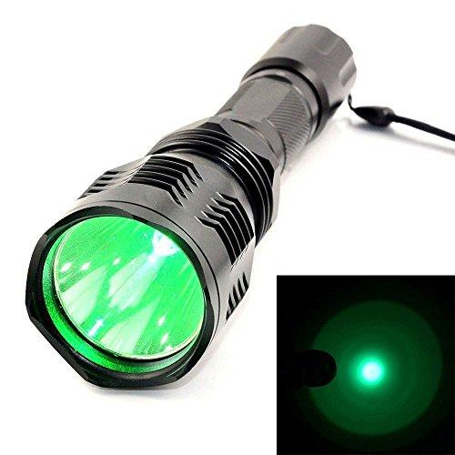 Durable Modeling Green Light Hunting Led Flashlight, Mini Butterball 350  Lumen HS 802 Bright