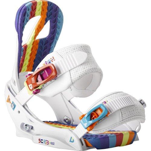 Burton Scribe EST Snowboard Binding Wild White Women's WILD WHITE S by Burton