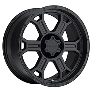 Vision Raptor 17 Matte Black Wheel / Rim 6x135 with a 25mm Offset and a 87.1 Hub Bore. Partnumber 372-7936MB25