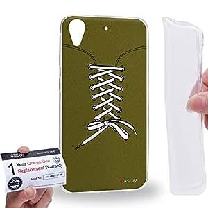 Case88 [HTC Desire 626 / 626s / 626G] Gel TPU Carcasa/Funda & Tarjeta de garantía - Art Fashion Field Drab Sneakers Art2546