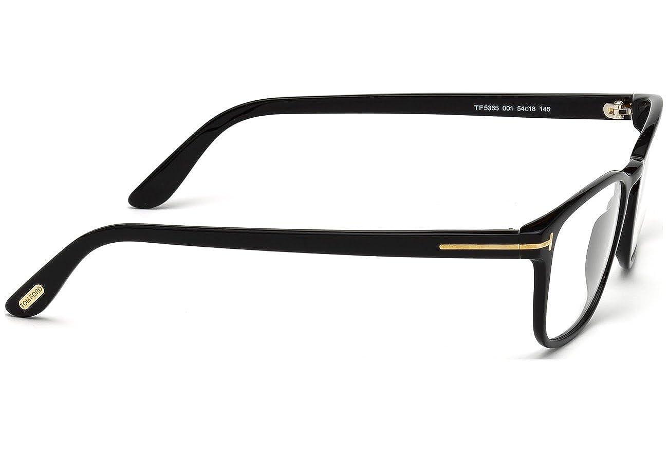 17f315c4efd4 TOM FORD Eyeglasses FT5355 001 Shiny Black at Amazon Men s Clothing store