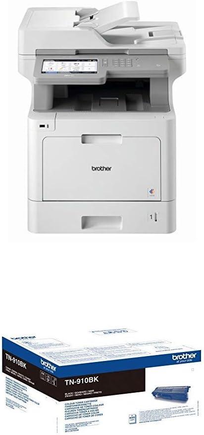 schwarz TN-910BK Original Ultra-Jumbo-Tonerkassette wei/ß//grau Brother MFC-L9570CDW Professionelles 4-in-1 Farblaser-Multifunktionsger/ät 31 Seiten//Min., Drucker, Scanner, Kopierer, Fax