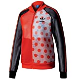 adidas Originals Womens Osaka Neoprene Mesh Polka Dot Track Top Bomber Jacket (M/L)
