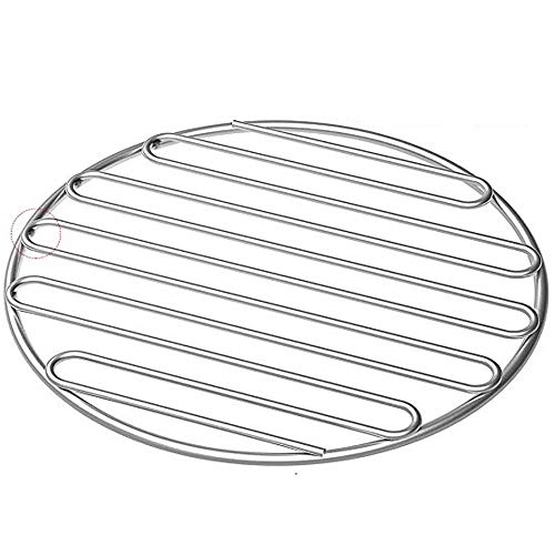 SELEWARE SUS304 Stainless Steel High Heat Charcoal Fire Grate, BBQ Round Cooking Grate/Cooking Grid for Large Big Green Egg Grill, Vision Grills, 9 ...