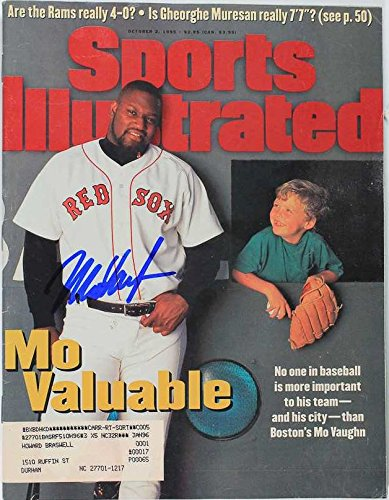 Mo Vaughn Signed Autographed Complete