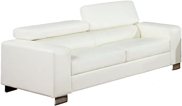 Furniture of America Bloomsbury Bonded Leather Match Sofa