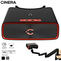 CINERA Dual 2.5K (5K Equivalent) HD Giant Screen Blu-Ray Players Supported 1440P Output Virtual Reality Home Cinema Travel 3D Theater VR Glasses (Jet Black)