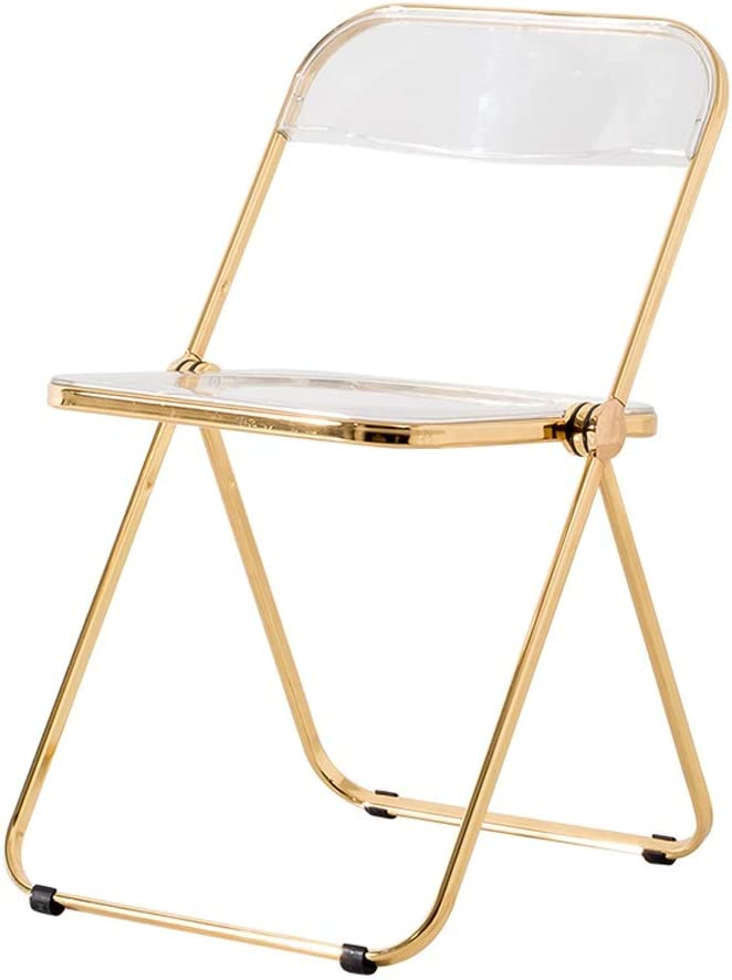 Nordic Metal Chair Folding Armchair Dining Chair Modern Acrylic Chair Plastic Chair Crystal Chair Transparent Chair Reading Chair Princess Chair Reception Chair Color Gold Amazon Co Uk Kitchen Home