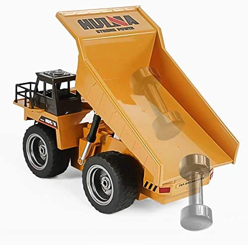 SSBH 2.4G Alliage à Distance Control Engineering Dump Truck Toy 6 canaux Chargeur Enfants Jouets for Les Enfants Adultes Petites Filles Garçons Cadeau d'anniversaire de Noël
