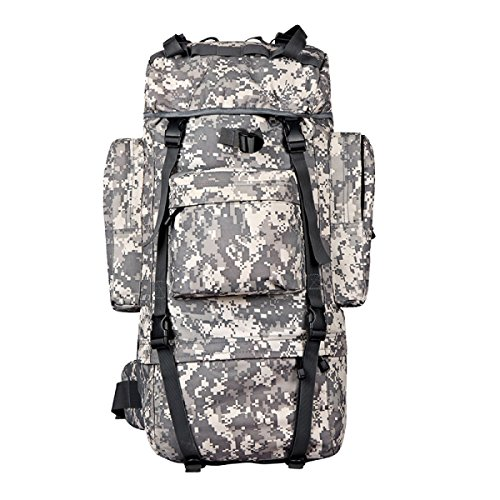 Xin.S65L Outdoor Bergsteigen Tasche Rucksack Taktik Schultern Große Kapazität Reise-Fan-Pack Wandern Multifunktionalen Kampf Rucksack B 3Nc5Z