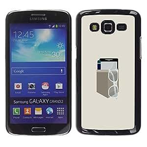 LECELL--Funda protectora / Cubierta / Piel For Samsung Galaxy Grand 2 -- EQUIPO DE BOLSILLO MINIMALISTA --