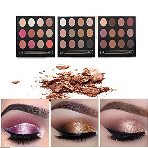 Vinmax Metallic Shimmer Eye Shadow Palette,12 Colors Eye Shadows Warm Natural Waterproof Eye Shadows Set 2#