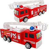 Package include: 1 x Colorful Fire Fighting Truck Model Toy Note The color is just for reference only. It may slightly different from real item. Please allow the size for 1-3cm difference due to manual messurement. Thank you!