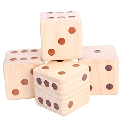 Amazoncom Sue Supply 90mm Large Wooden Dice Family Game Pine