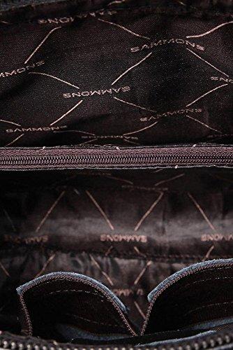 De piel auténtica César Empire maletín bandolera de la serie es negro negro