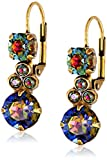 "Sorrelli  ""Volcano"" Clustered Circular Crystal Drop Earrings"
