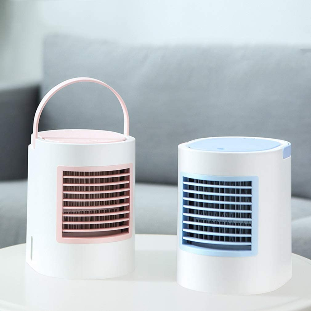 Fan Color : Blue, Size : 13.317.817cm Air Cooler Small Air Conditioner Mini Portable Small Refrigerator Student Dorm Room Office Purifying Air Tingting