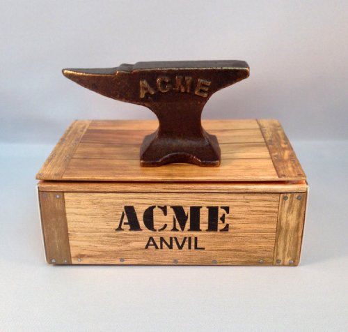 (Pure Bronze Mini ACME Anvil Reminds Us of the Old Looney Tunes Cartoons with Wile E Coyote & Roadrunner. Great Anytime Gift!)