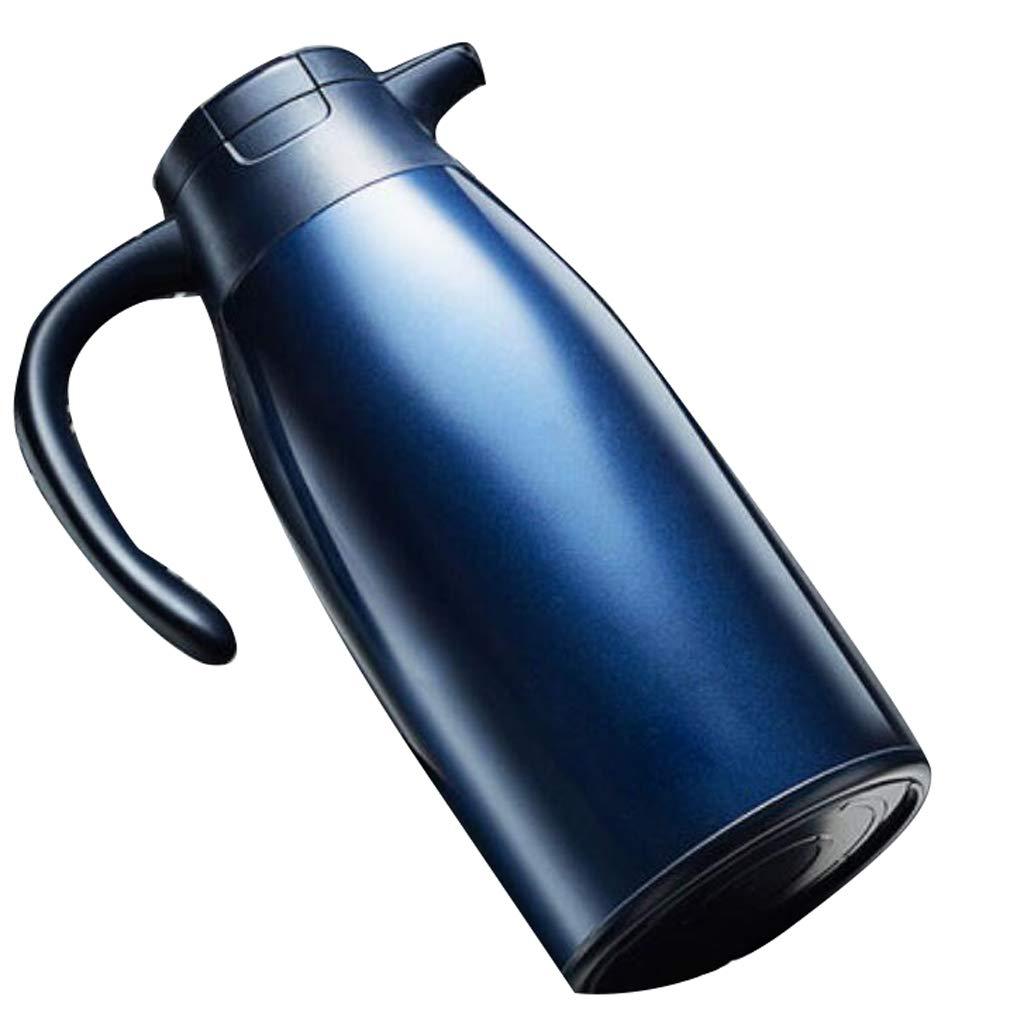 XUEZM Thermosbecher, Vakuum Reise-vakuumflasche Kaffeekanne Edelstahl Haushalt Isolierung Tasse (Farbe : Blau)