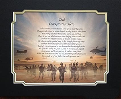 Amazon Gift For Army Dad Our Greatest Hero Poem Fathers Day