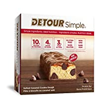 Detour Simple Salted Caramel Cookie Dough Protein Bars 9 x 30g