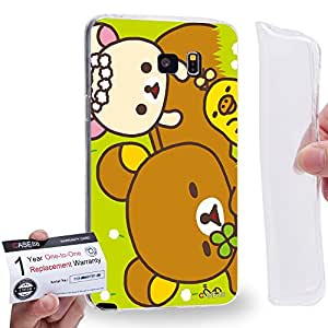 Case88 [Samsung Galaxy Note 5] Gel TPU Carcasa/Funda & Tarjeta de garantía - Rilakkuma Korilakuma Kiiroitori Kaoru Collection 1360