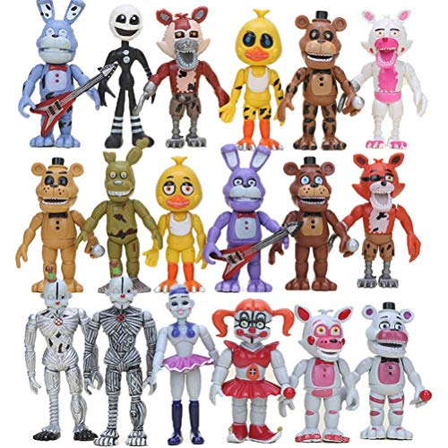 6pcs FNAF PVC Action Figure Set Sister Location Chica Mangle Foxy Puppet Gold Fre-ddy Fazbear Dolls Five Nights at Freddy's Toys