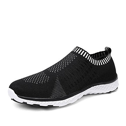 Monrinda Women Breathable Sailing up Beach Water Shoes Mesh Slip on Water Trainers Ladies Lightweight Quick Dry Aqua Sneakers Outdoor Couples Walking Sports Shoes Black
