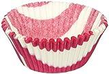 Jubilee Sweet Arts Zebra Cupcake Baking Liners, Hot Pink