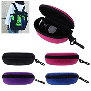 Copter shop Sunglasses cases, portable boxes, zippers, sunglasses, hard spectacles, glasses, glasses cases, protective glasses, bag cases, glasses accessories:Random Color