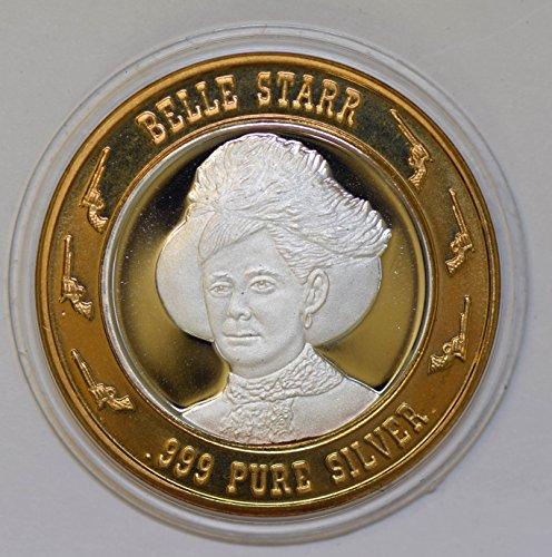 IE BU0338 US casino chip token belle Starr silver DE PO-01