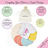Organic Bamboo Nursing Pads| Pack Of 14+3 Bonus Items| Reusable & Washable| Soft & Super absorbent | Large Size | Leak-proof | With Laundry & Organza Bags | Perfect Baby Shower Gift (Large)