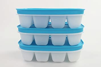 TUPPERWARE Mini Bandeja de Hielo Flexi blanco azul (3)