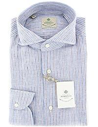 New Borrelli Blue Striped Extra Slim Shirt