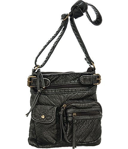 Mini Cargo Blackened Pewter Distressed Crossbody Swingpouch Bag Cargo Mini Bag