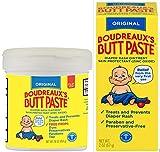 Boudreaux's Butt Paste Diaper Rash Ointment Home and Travel Kit   Original  16 oz. Jar and 2 oz. Tube   Paraben & Preservative Free