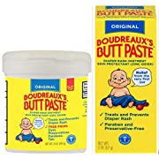 Boudreaux's Original Butt Paste Diaper Rash Ointment Kit | Paraben & Preservative Free | 16 Ounce Jar + 2 Ounce Tube Included in Kit