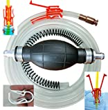Siphon Pro XL - Largest Siphon for Water - Gas - Diesel - See Video - It's a Pump or Siphon - Get Work Done Fast! 8' & Shut Off Clip - USA