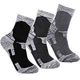 YUEDGE Men's 3 Pairs Wicking Antimicrobial Outdoor Multi Performance Hiking...