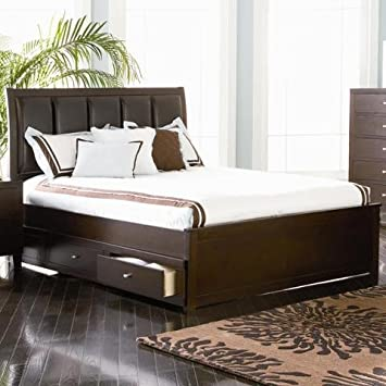 coaster 201511f 511s lorretta full size storage bed deep brown finish - Storage Bed Frame Full