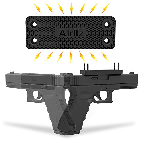 Magnet-Gun-Mount-for-Car-Alritz-Rubber-Coated-35-Lbs-Rated-Gun-Magnetic-Holster-Concealed-Holder-for-Pistol-Air-Gun-Revolver-Handgun-Shotgun-Rifle-in-Vehicle-Truck-Desk-Wall-Home-Office