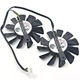 PLA07010S12HH 12V 0.5A 65mm 4 Pin Replacement Cooling Fan For R7850 TWIN FROZR R5770 6770 Graphics Card Fan